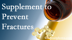 Spengel Chiropractic suggests nutritional supplementation with vitamin D and calcium to prevent osteoporotic fractures.