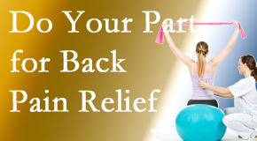 Spengel Chiropractic calls on back pain sufferers to participate in their own back pain relief recovery.