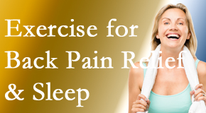Spengel Chiropractic shares new research about the benefit of exercise for back pain relief and sleep.
