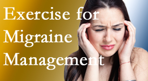 Spengel Chiropractic includes exercise into the chiropractic treatment plan for migraine relief.