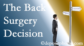 McHenry back surgery for a disc herniation is an option to be carefully studied before a decision is made to proceed.