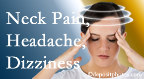 Spengel Chiropractic helps relieve neck pain and dizziness and related neck muscle issues.