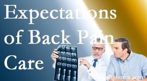 The pain relief expectations of McHenry back pain patients influence their satisfaction with chiropractic care. What is realistic?