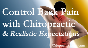 Spengel Chiropractic helps patients set realistic goals and find some control of their back pain and neck pain so it doesn't necessarily control them.