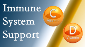 Spengel Chiropractic presents details about the benefits of vitamins C and D for the immune system to fight infection.