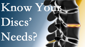 Your McHenry chiropractor thoroughly understands spinal discs and what they need nutritionally. Do you?