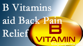 Spengel Chiropractic may include B vitamins in the McHenry chiropractic treatment plan of back pain sufferers.