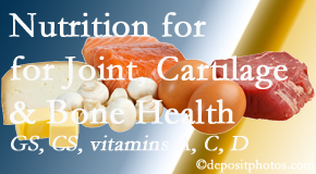 Spengel Chiropractic explains the benefits of vitamins A, C, and D as well as glucosamine and chondroitin sulfate for cartilage, joint and bone health.