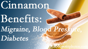 Spengel Chiropractic shares research on the benefits of cinnamon for migraine, diabetes and blood pressure.