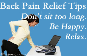 Spengel Chiropractic reminds you to not sit too long to keep back pain at bay!