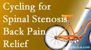 Spengel Chiropractic encourages exercise like cycling for back pain relief from lumbar spine stenosis.
