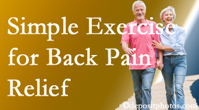 Spengel Chiropractic encourages simple exercise as part of the McHenry chiropractic back pain relief plan.