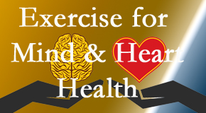 A healthy heart helps maintain a healthy mind, so Spengel Chiropractic encourages exercise.