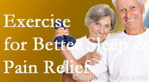 Spengel Chiropractic incorporates the recommendation to exercise into its treatment plans for chronic back pain sufferers as it improves sleep and pain relief.