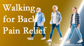 Spengel Chiropractic often recommends walking for McHenry back pain sufferers.