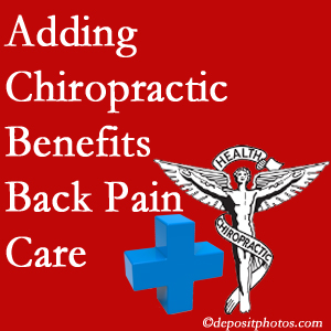 Added McHenry chiropractic to back pain care plans helps back pain sufferers.