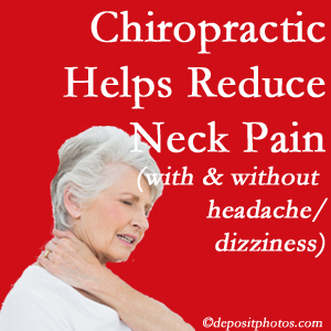 McHenry chiropractic treatment of neck pain even with headache and dizziness relieves pain at a reduced cost and increased effectiveness.