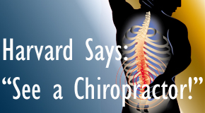 McHenry chiropractic for back pain relief urged by Harvard