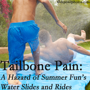 Spengel Chiropractic offers chiropractic manipulation to ease tailbone pain after a McHenry water ride or water slide injury to the coccyx.