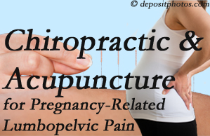 McHenry chiropractic and acupuncture may help pregnancy-related back pain and lumbopelvic pain.