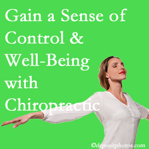 Using McHenry chiropractic care as one complementary health alternative boosted patients sense of well-being and control of their health.