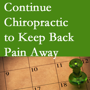Continued McHenry chiropractic care helps keep back pain away.