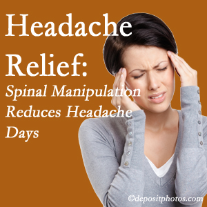 McHenry chiropractic care at Spengel Chiropractic may reduce headache days each month.