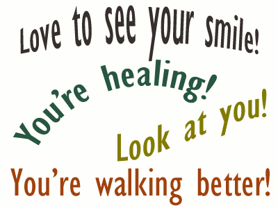 Use positive words to support your McHenry loved one as he/she gets chiropractic care for relief.