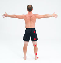 trigger points map down right leg